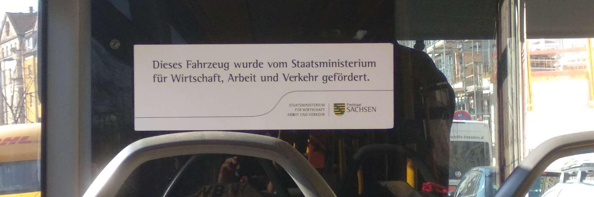 Bus finanziert vom Staat