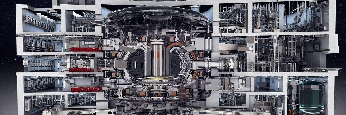 ITER: International Thermonuclear Experimental Reactor, lateinisch für Weg. ITER ist ein Kernfusionsreaktor und ein internationales Forschungsprojekt mit dem Fernziel der Stromerzeugung aus Fusionsenergie