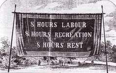 8 Stundentag Banner